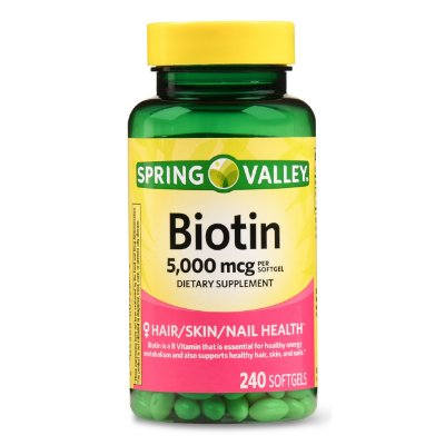Spring Valley Biotin Softgels 5,000 mcg