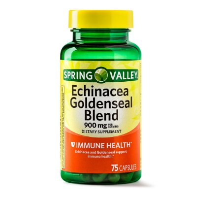 Spring Valley Echinacea Goldenseal Blend Capsules, 900 mg