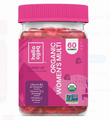 Hello Bello Organic Women's Multi Vitamin Gummy