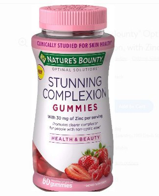 Nature's Bounty® Optimal Solutions Stunning Complexion with Zinc
