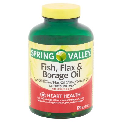 Spring Valley Fish Flax & Borage Oil
