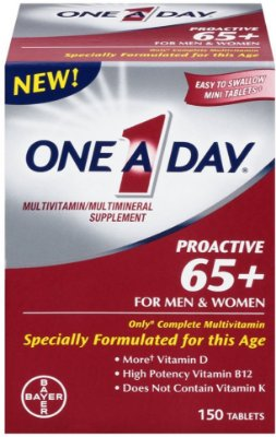 One A Day Proactive 65+ Multivitamin/Multi-Mineral