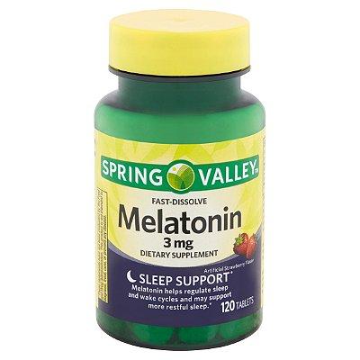 Spring Valley Fast-Dissolve Melatonin Tablets 3 mg