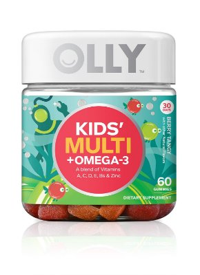 Olly Kids Multivitamin Plus Omega-3 Gummies Berry Tangy