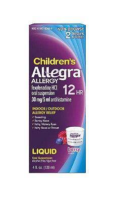 Allegra Children's 12 Hour Allergy Relief 30mg Oral Suspension Berry