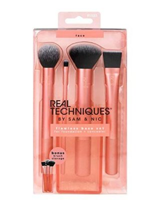 Real Techniques Cruelty Free Flawless Base Set Synthetic Bristles