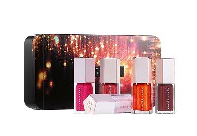 Fenty Beauty By Rihanna Glossy Posse Mini Gloss Bomb Set - Edição Limitada