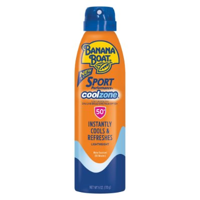 Banana Boat Sport CoolZone Clear Sunscreen Spray SPF 50+