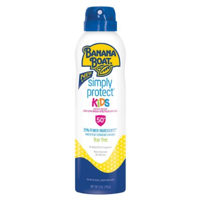 Banana Boat Simply Protect Kids Sunscreen Spray SPF 50+