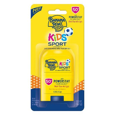 Banana Boat Kids Sport Broad Spectrum Sunscreen Stick with SPF 50