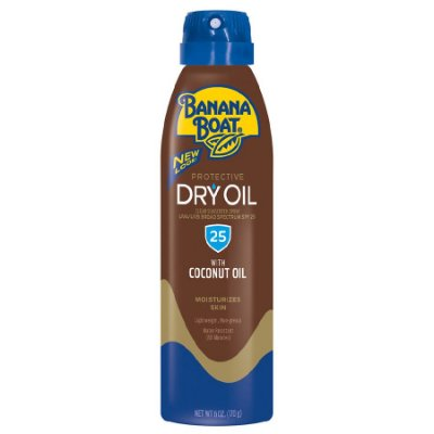 Banana Boat Dry Oil Clear Sunscreen Spray SPF 25