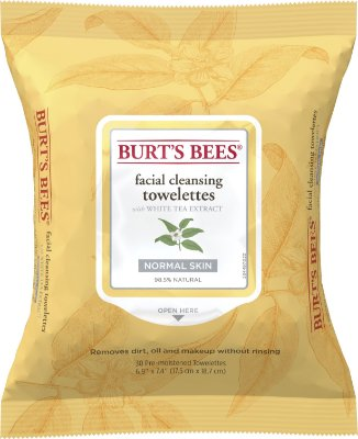 Burt's Bees Facial Cleansing Wipes, White Tea Extract