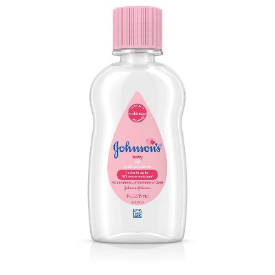 Johnson's Baby Oil, Pure Mineral Oil to Prevent Moisture Loss, Original