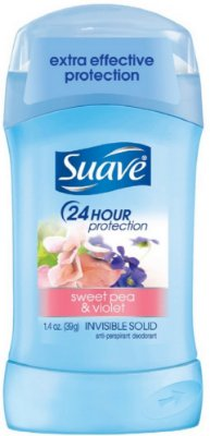 Suave Naturals Anti-Perspirant Deodorant Invisible Solid, Sweet Pea and Violet