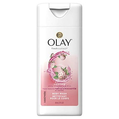 Olay Fresh Outlast Cooling White Strawberry & Mint Body Wash - Travel Size