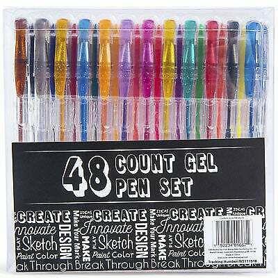 Count Gel Pen Set - 48 Colors