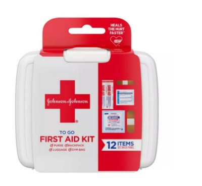 Johnson & Johnson First Aid To Go Portable Mini Travel Kit