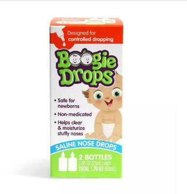 Boogie Drops Saline Nose Drops Twin Pack
