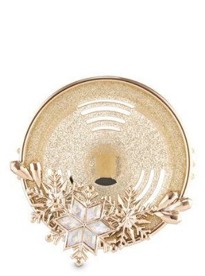 Gold Snowflake Vent Clip   Scentportable Holder