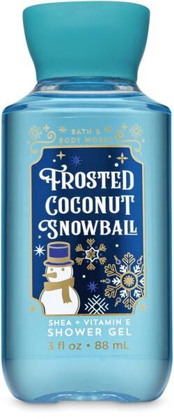 Frosted Coconut Snowball Travel Size Shower Gel