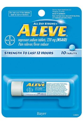Aleve Caplets Naproxen Sodium 220 mg
