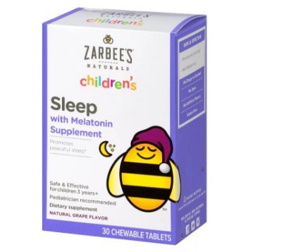 Zarbee's Naturals Children's Sleep with Melatonin Chewable Tablets
