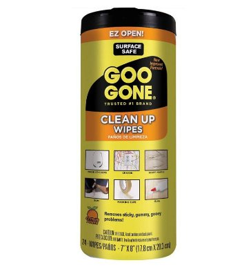 Goo Gone Clean Up Wipes Adhesive Remover