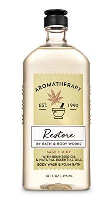 Aromatherapy Sage Mint Wash & Foam Bath