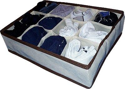 Kit de Organizador de Gavetas Organibox 27x36 - 12 Divisões
