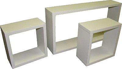 Conjunto de nichos para parede - retangular decorativo