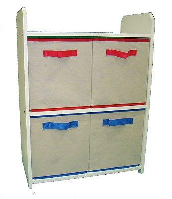 Nicho organizador estante armário para brinquedos e objetos