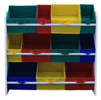 Organizador infantil - porta brinquedos montessoriano Organibox - colorido