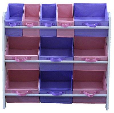 Organizador de Brinquedos Infantil OrganiBox Feminino