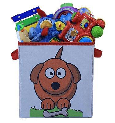 Caixa organizadora de brinquedos 28x30x28cm - CACHORRO