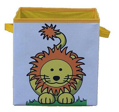 Caixa organizadora de brinquedos 28x30x28cm - LEÃOZINHO