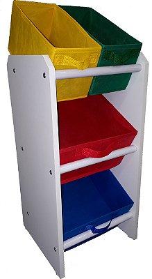 Organizador de brinquedos Infantil - OrganiBox - Mini Colorido