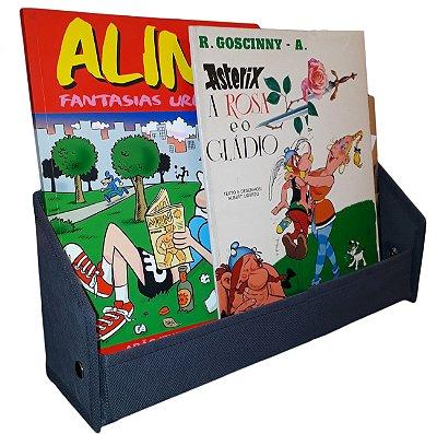Revisteiro prateleira porta livro infantil - Montessoriano colorido