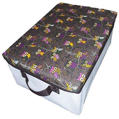 Caixa Organizadora 28x14x38cm - com tampa de coruja