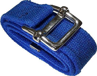 Cinto Masculino Casual Lona Militar Organibox 100% Algodão Azul