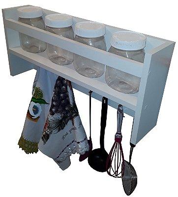 Suporte para utensílios de cozinha - branco