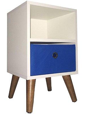 Mesa de cabeceira com 1 gaveta - pé palito