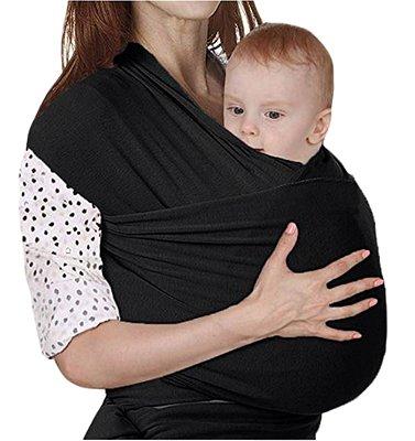 Wrap sling para bebês - azul - preto - cinza