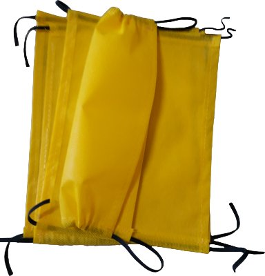 Mascara de proteção facial - TNT 60g - amarelo