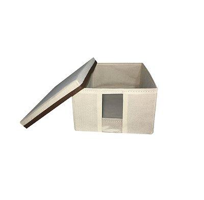 Caixa organizadora para sapato com visor transparente pequena