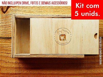 Kit c/ 5 unidades - Caixa de Provas - Modelo 2 Slim (Espaço só para fotos)