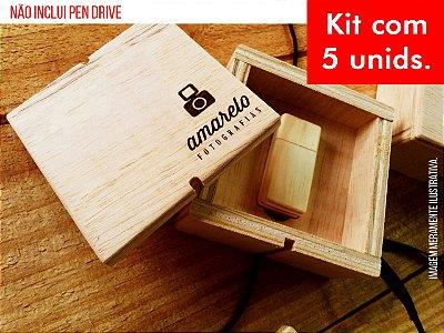 Kit c/ 5 unidades - Caixa p/ Pen Drive - Mod. 1