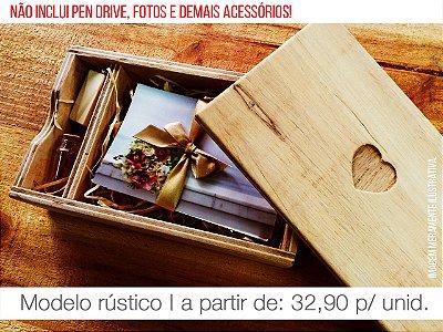 Caixa de Provas - Mod. 1 (Espaço para fotos + Compartimento para Pen drive)
