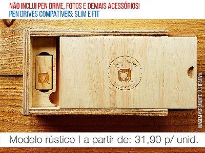 Caixa de Provas - Mod. 2 Slim (Espaço para fotos + Compartimento para Pen drive)