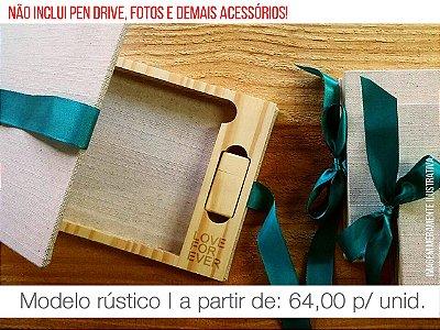 Caixa de Provas - Mod. 3 (Espaço para fotos + Compartimento para Pen drive)