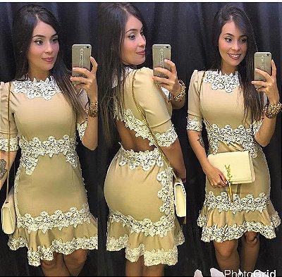 Vestido Ariane com guippir
